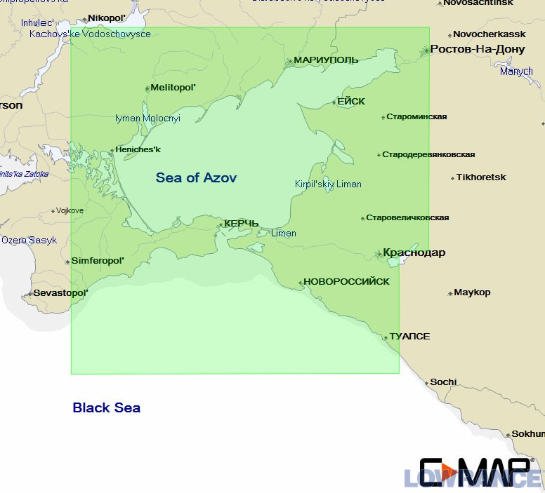 Карта C-МАР EM-N121 - Азовское море, восточная часть Черного моря