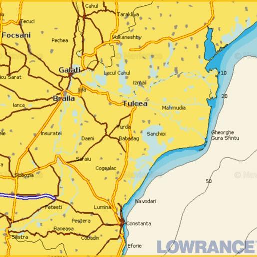 """Карта Navionics 5G611S2 """"Устье реки Дунай (100 км)"""""""