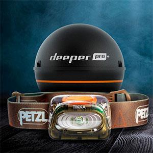 Deeper PRO+ з ліхтариком Petzl TIKKA в подарунок