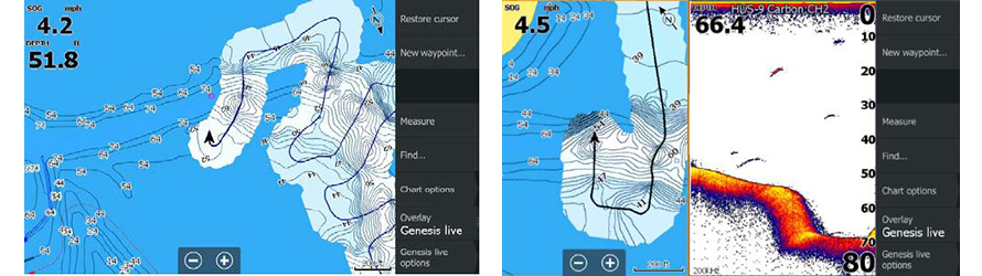 Функція промальовування карт в реальному часі Genesis Live